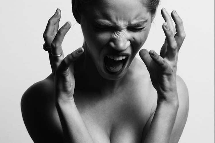 Woman Lashing Out with Anger