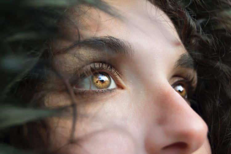 Womans Facing Trauma