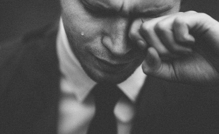 Man Crying at Eating Disorder Counselling Session