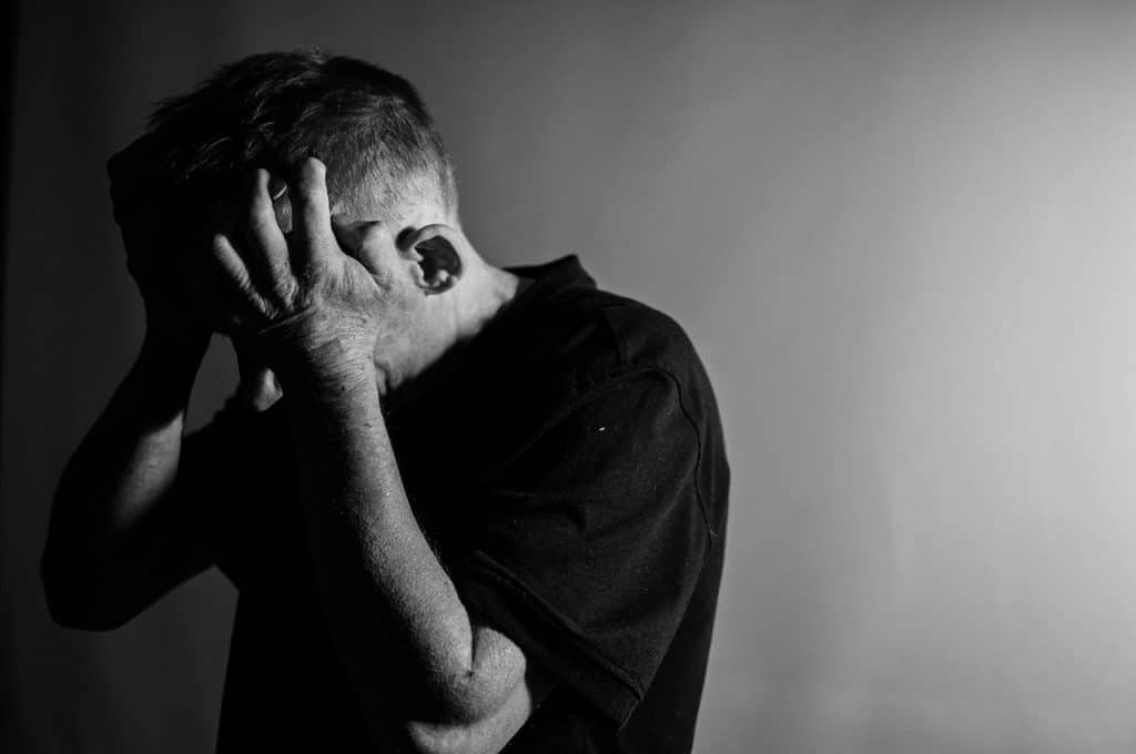 Man Coping with Grief